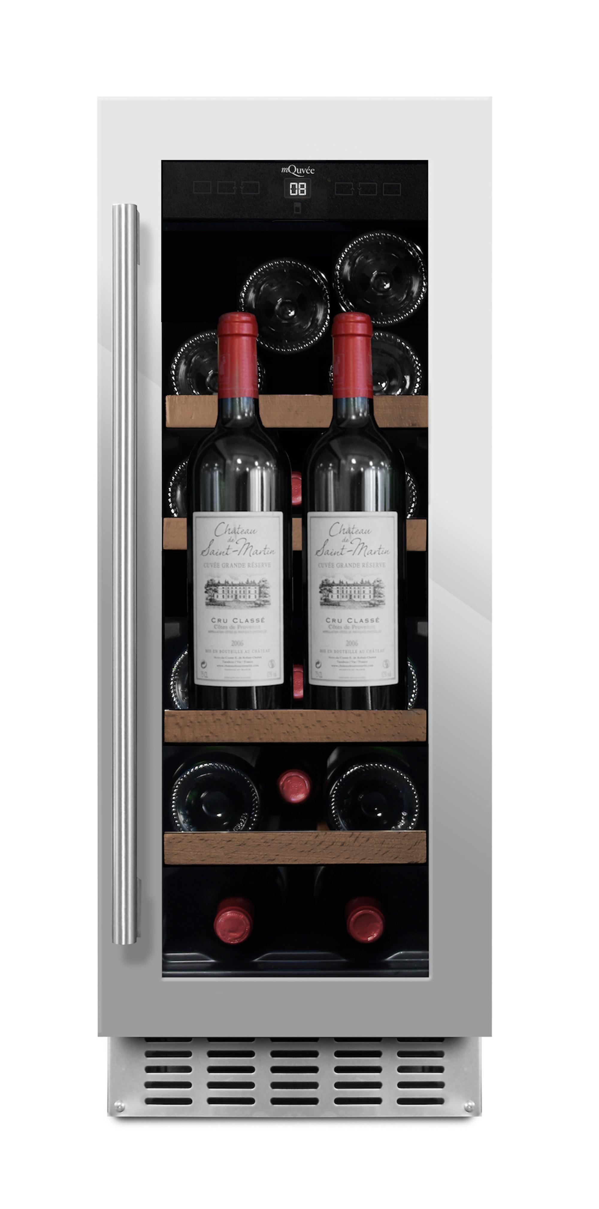 Picture of: Smart Smalt Vinskab Til Indbygning Under Bordplade Til 28 Flasker Flasker Energiklasse A Og Lavt Stojniveau 40 Db