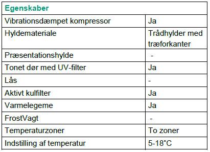 Vinkøleskab Vestfrost W 45 med prisgaranti